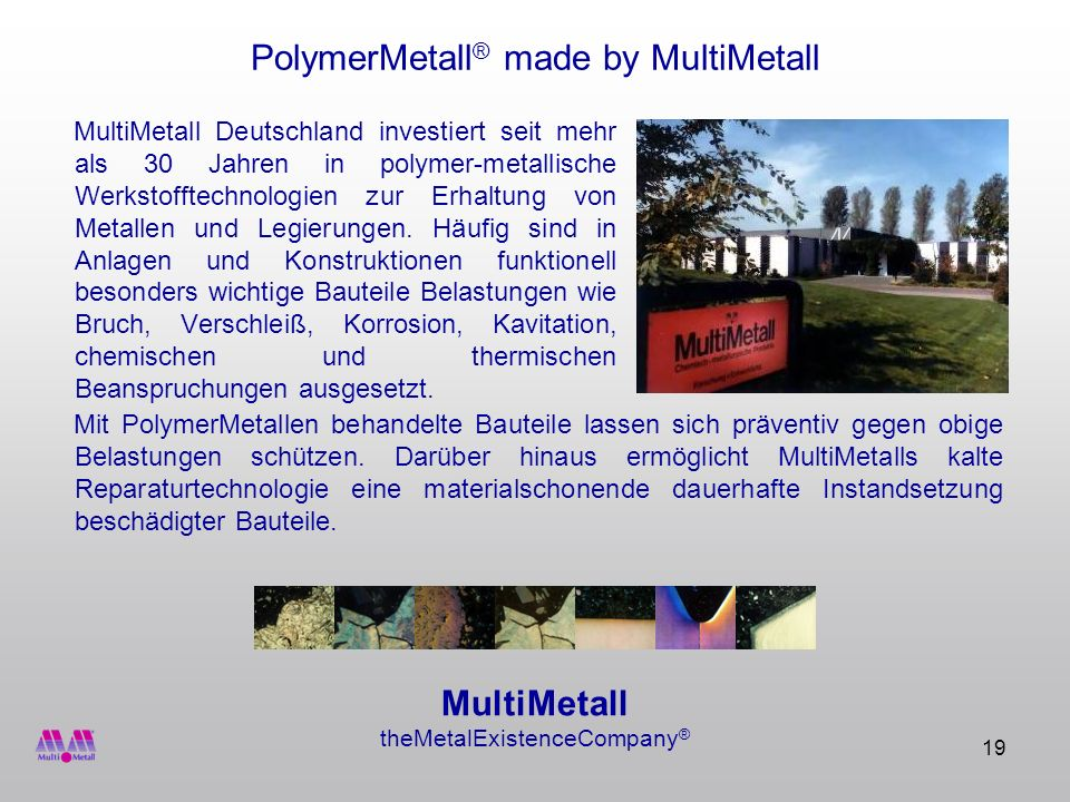 PolymerMetall® made by MultiMetall