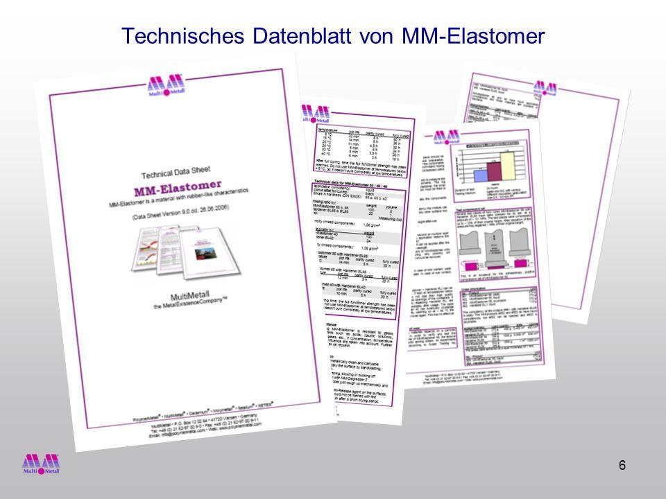 Technisches Datenblatt von MM-Elastomer