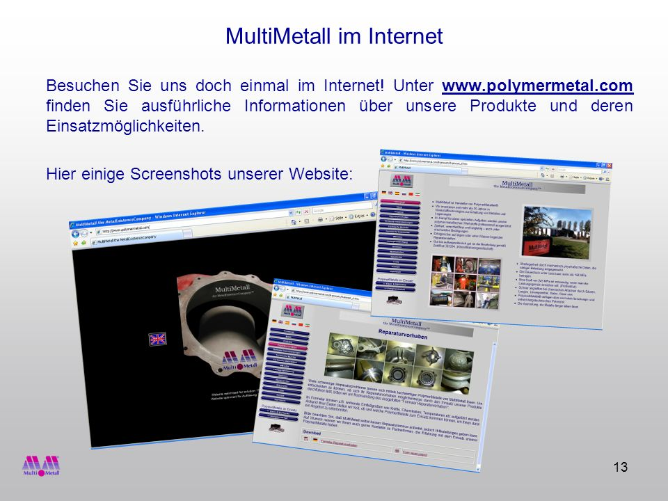 MultiMetall im Internet