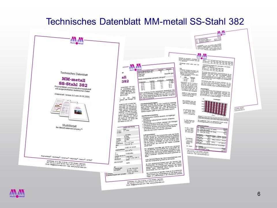 Technisches Datenblatt MM-metall SS-Stahl 382