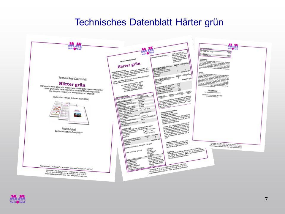 Technisches Datenblatt Härter grün