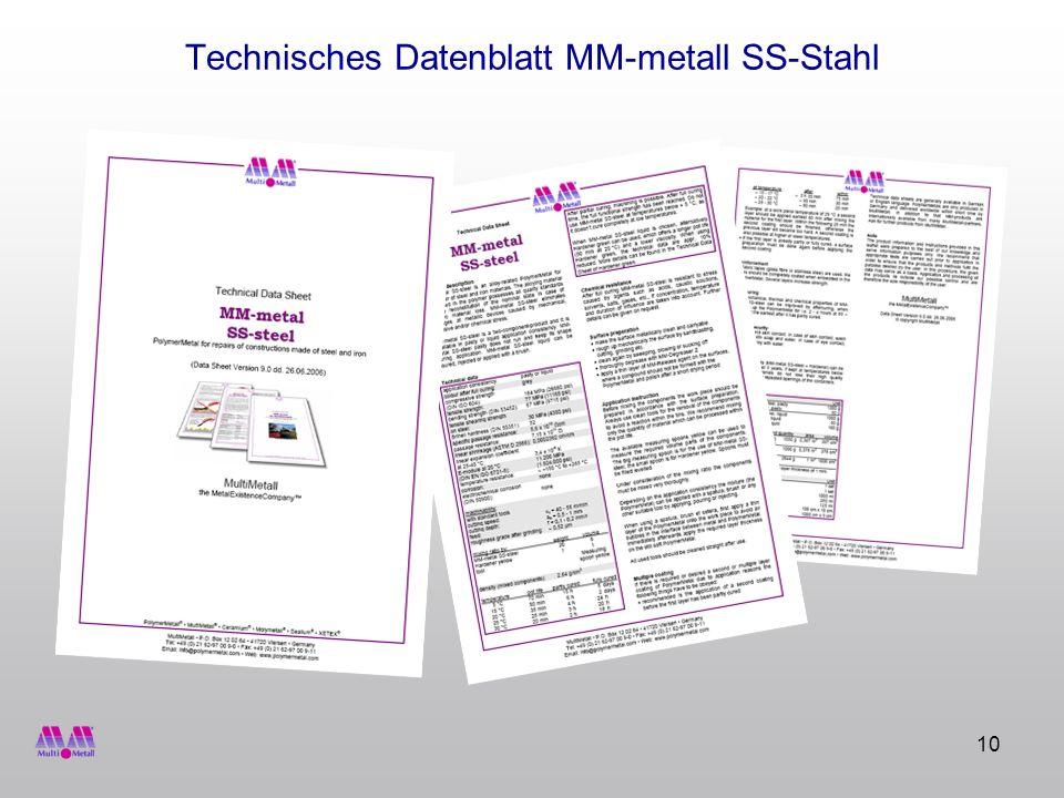 Technisches Datenblatt MM-metall SS-Stahl