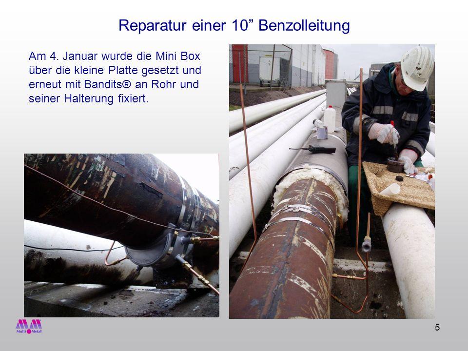 Reparatur einer 10 Benzolleitung