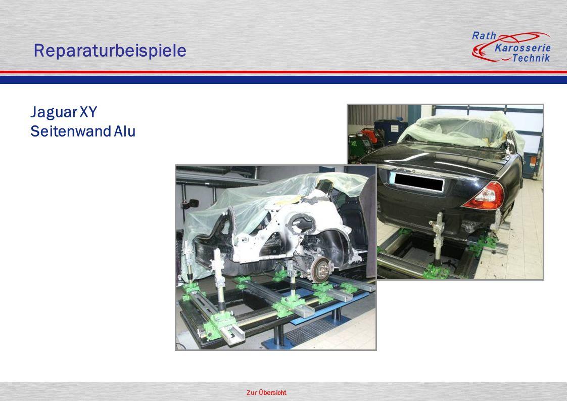 Reparaturbeispiele Jaguar XY Seitenwand Alu Aluminium