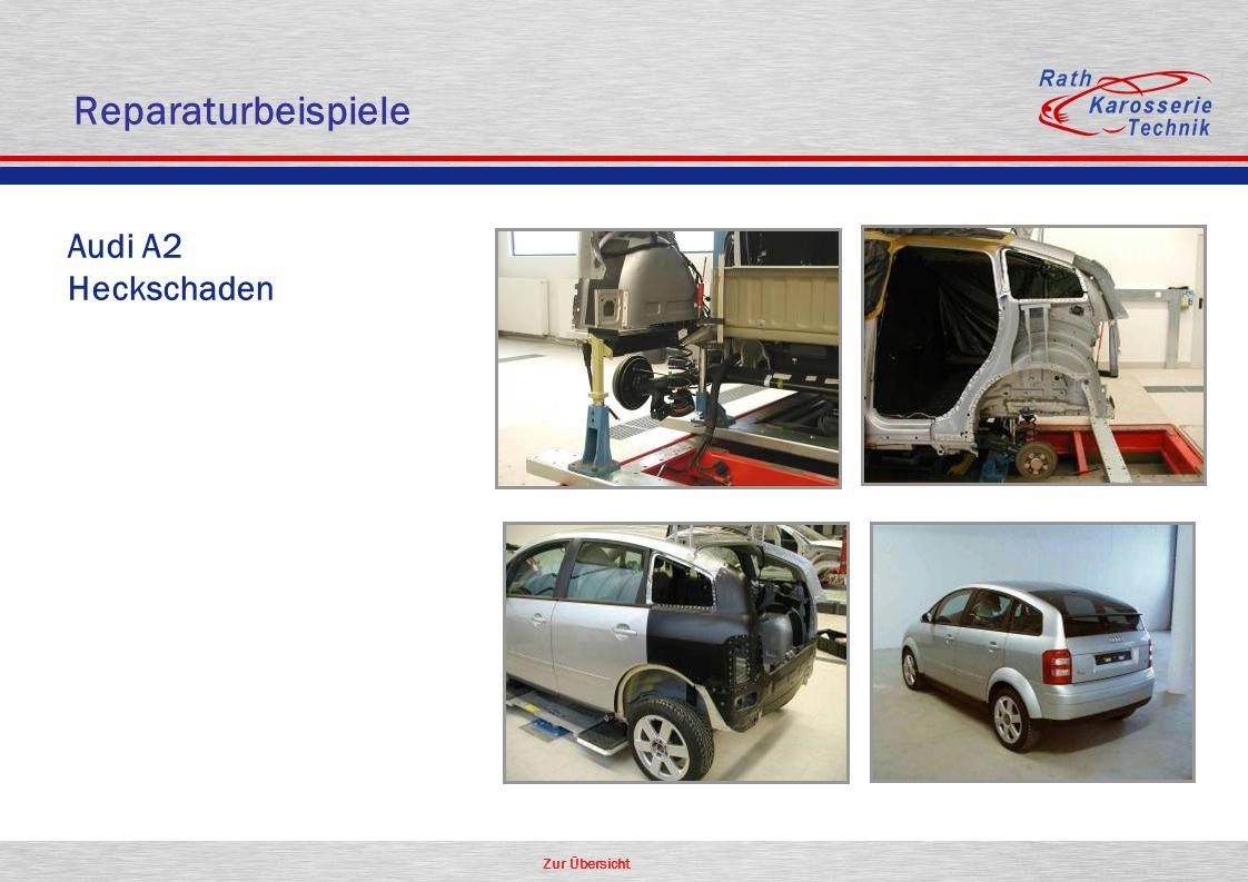 Reparaturbeispiele Audi A2 Heckschaden Aluminium