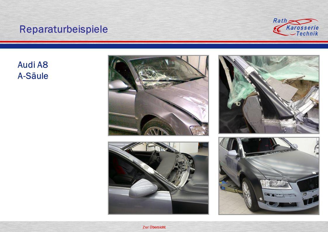 Reparaturbeispiele Audi A8 A-Säule Aluminium Oldtimer