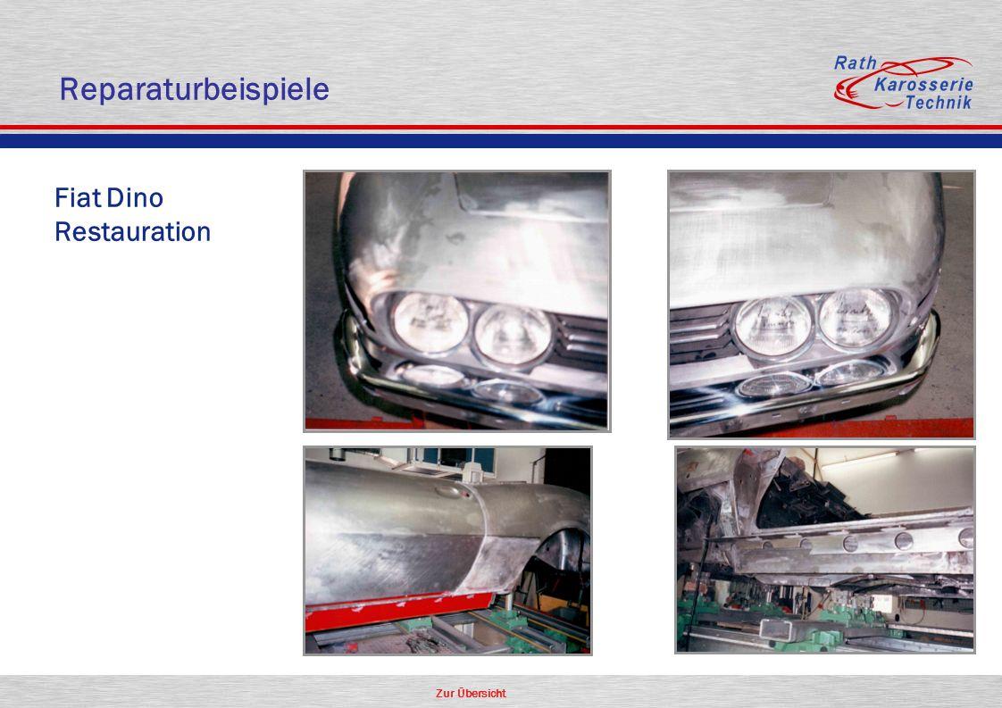 Reparaturbeispiele Fiat Dino Restauration