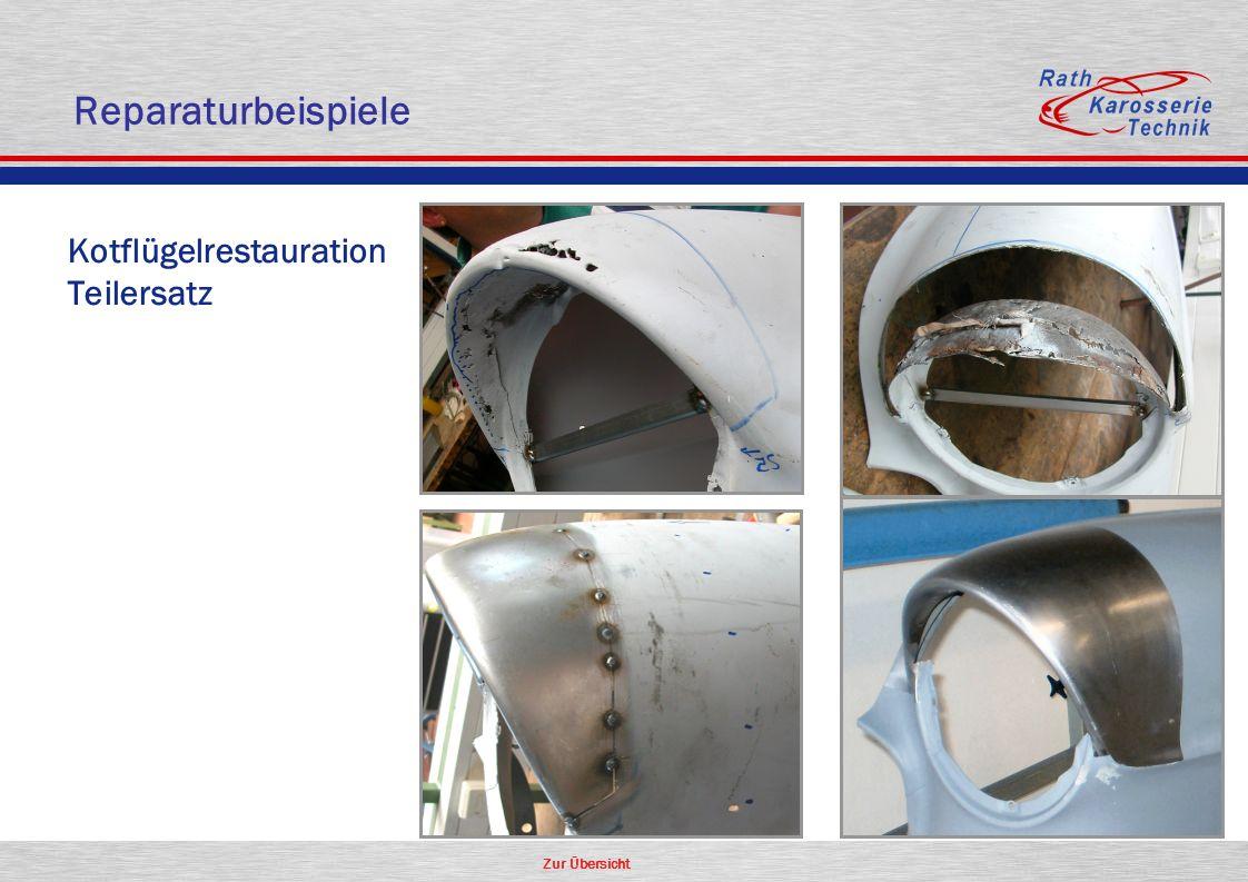 Reparaturbeispiele Kotflügelrestauration Teilersatz Oldtimer