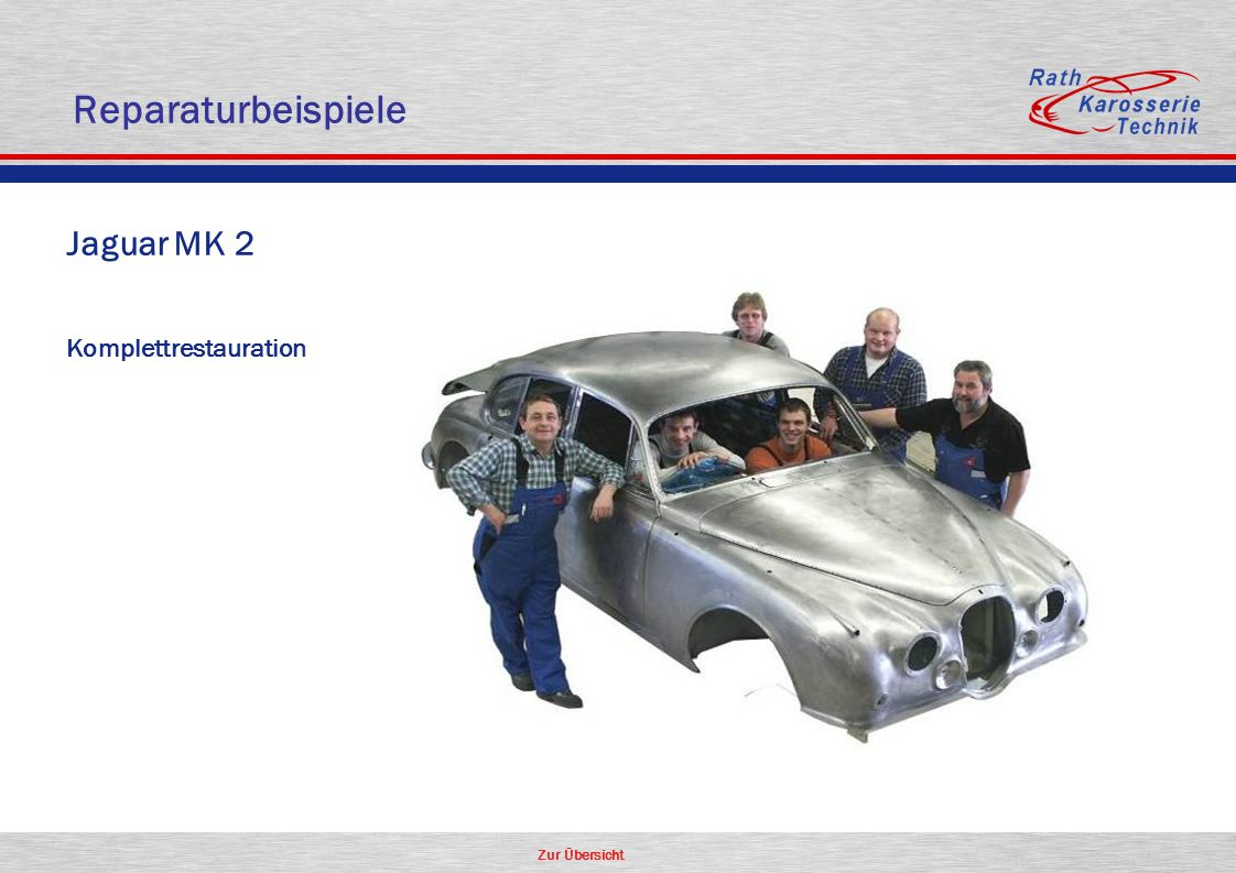 Reparaturbeispiele Jaguar MK 2 Komplettrestauration Oldtimer