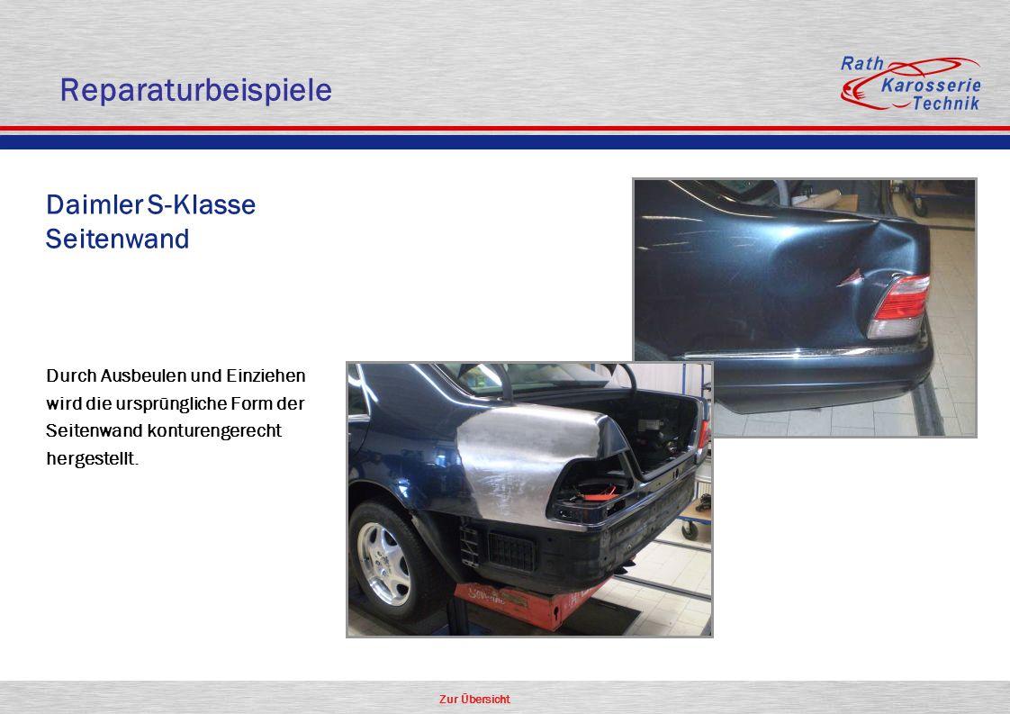 Reparaturbeispiele Daimler S-Klasse Seitenwand