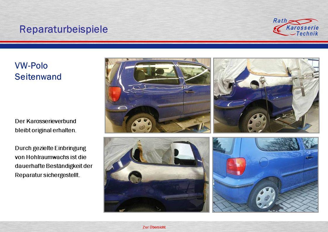 Reparaturbeispiele VW-Polo Seitenwand Der Karosserieverbund