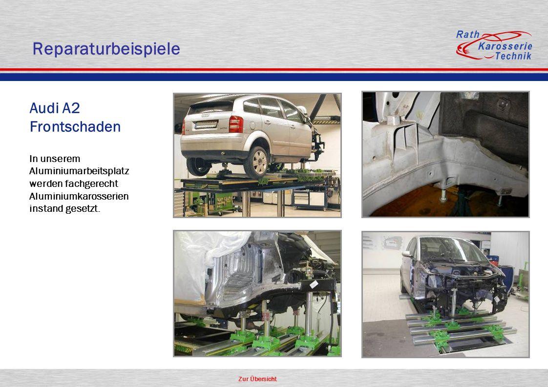 Reparaturbeispiele Audi A2 Frontschaden Aluminium Oldtimer