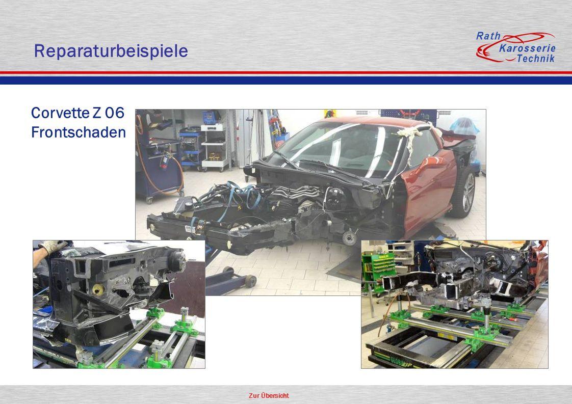 Reparaturbeispiele Corvette Z 06 Frontschaden
