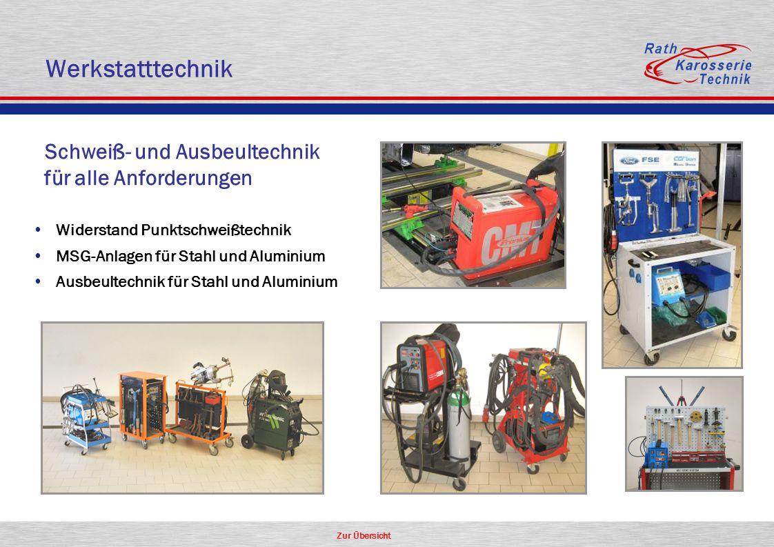 Werkstatttechnik für alle Anforderungen Schweiß- und Ausbeultechnik