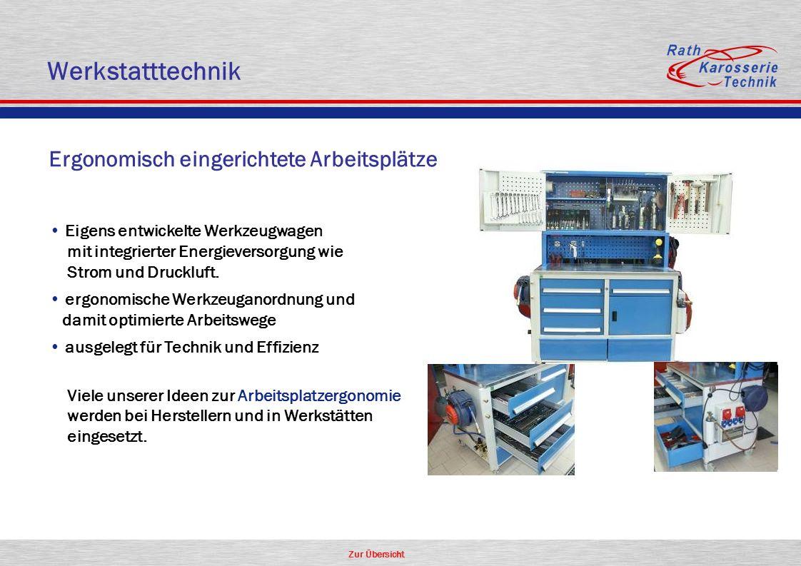 Werkstatttechnik Ergonomisch eingerichtete Arbeitsplätze