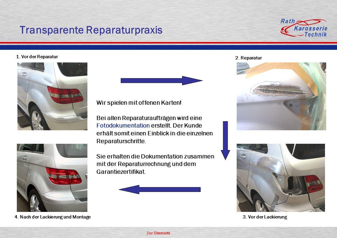 Transparente Reparaturpraxis