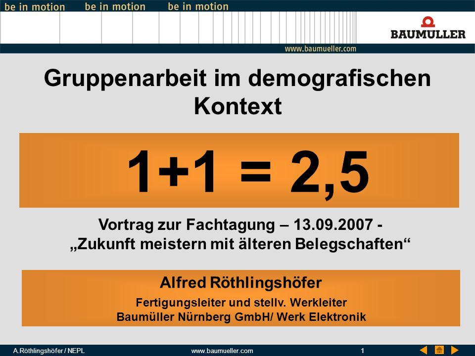 1+1 = 2,5 Gruppenarbeit im demografischen Kontext