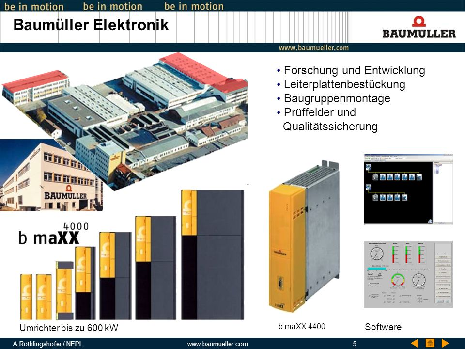 Baumüller Elektronik Forschung und Entwicklung Leiterplattenbestückung
