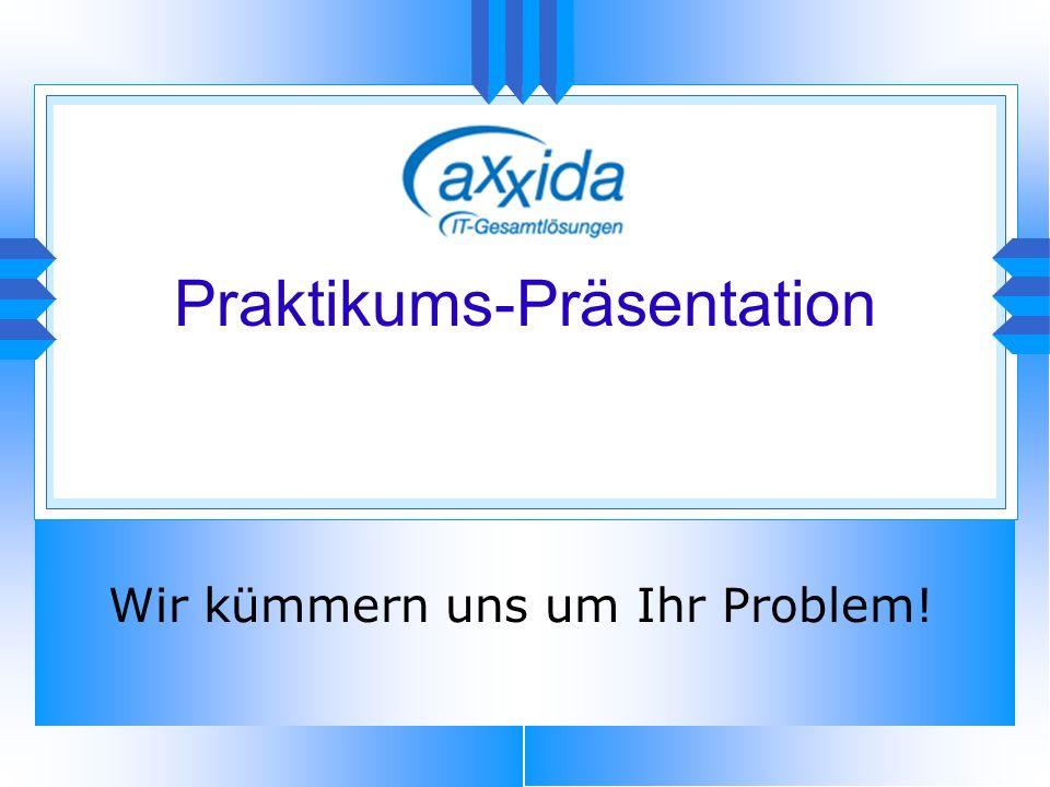 Praktikums-Präsentation