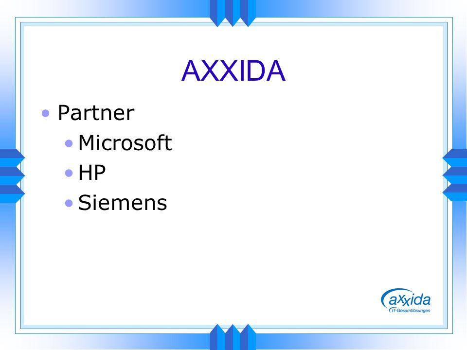 AXXIDA Partner Microsoft HP Siemens