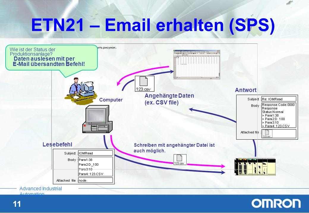 ETN21 – Email erhalten (SPS)