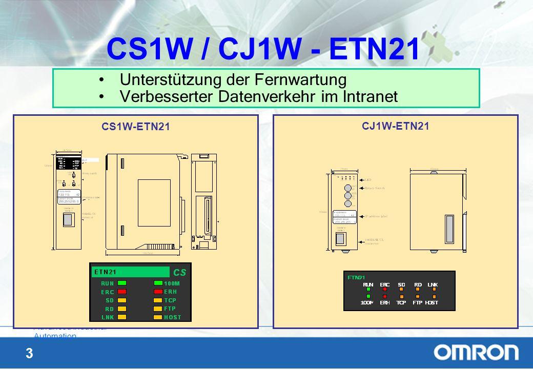 CS1W / CJ1W - ETN21 Unterstützung der Fernwartung