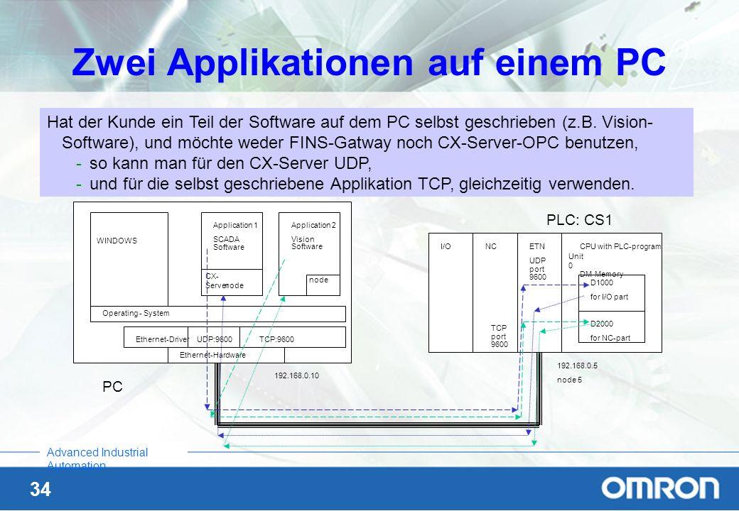 Zwei Applikationen auf einem PC