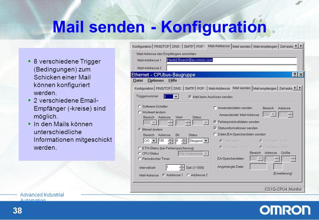 Mail senden - Konfiguration