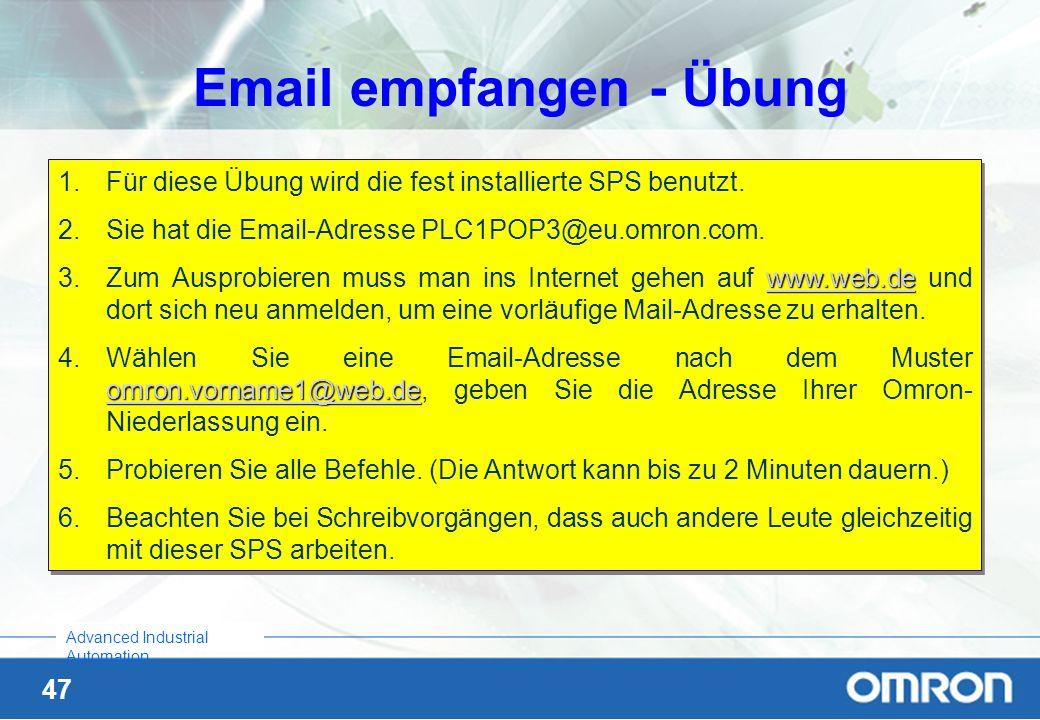 Email empfangen - Übung