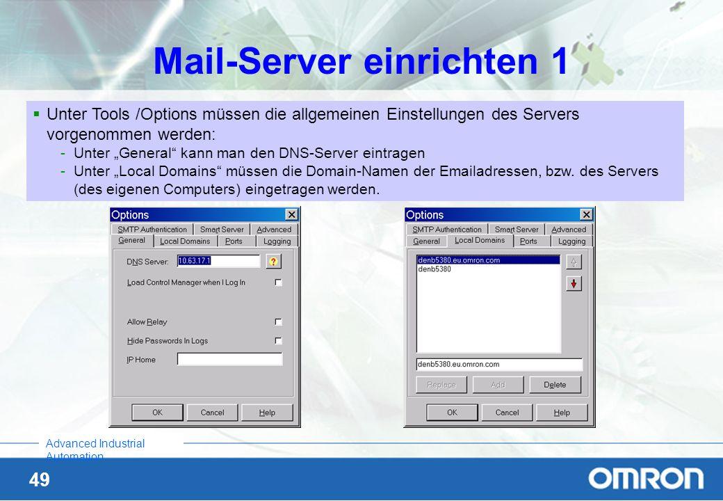 Mail-Server einrichten 1