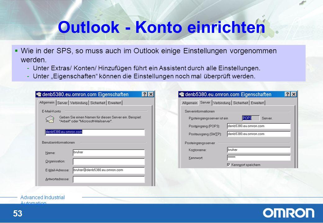 Outlook - Konto einrichten