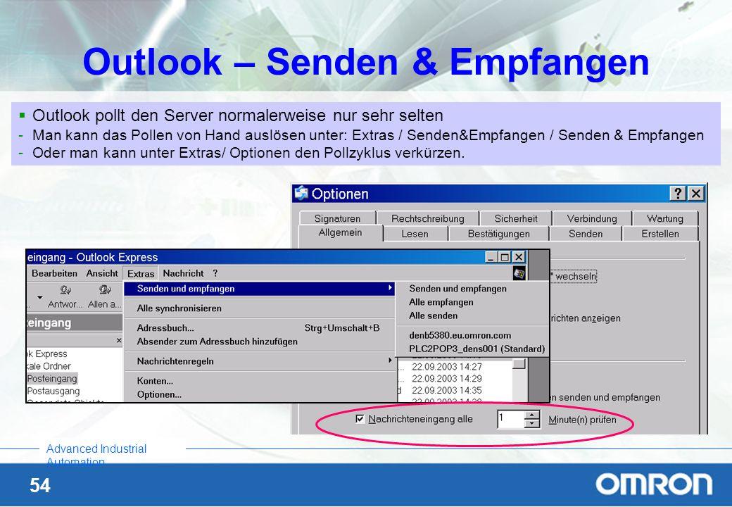 Outlook – Senden & Empfangen