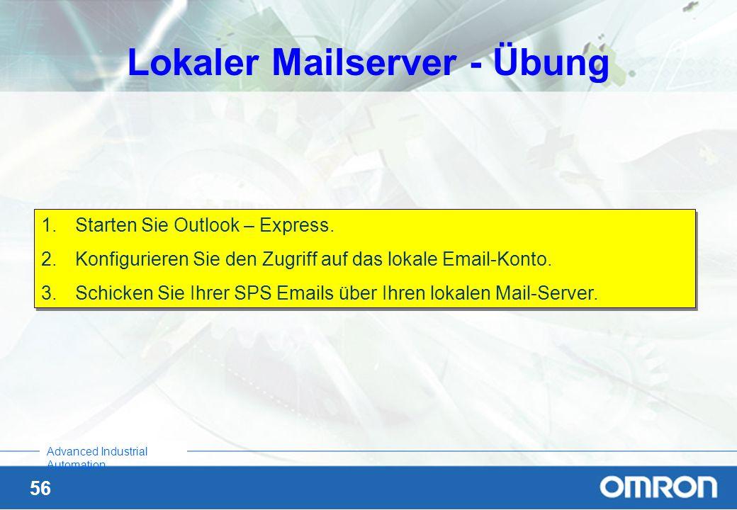Lokaler Mailserver - Übung