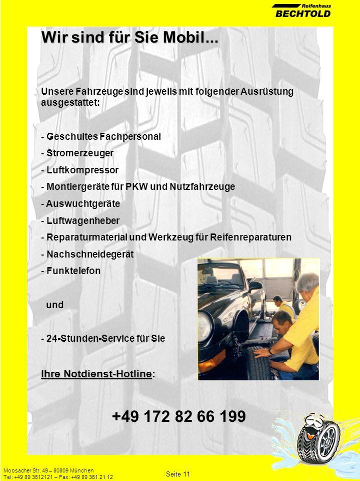 Wir sind für Sie Mobil... +49 172 82 66 199 Ihre Notdienst-Hotline: