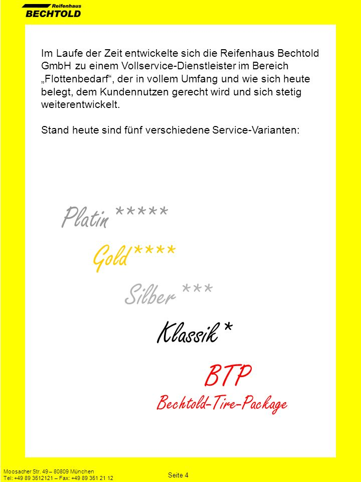 Klassik* BTP Bechtold-Tire-Package