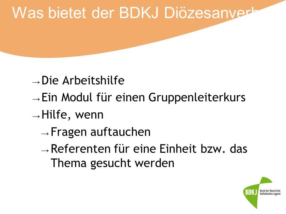 Was bietet der BDKJ Diözesanverband