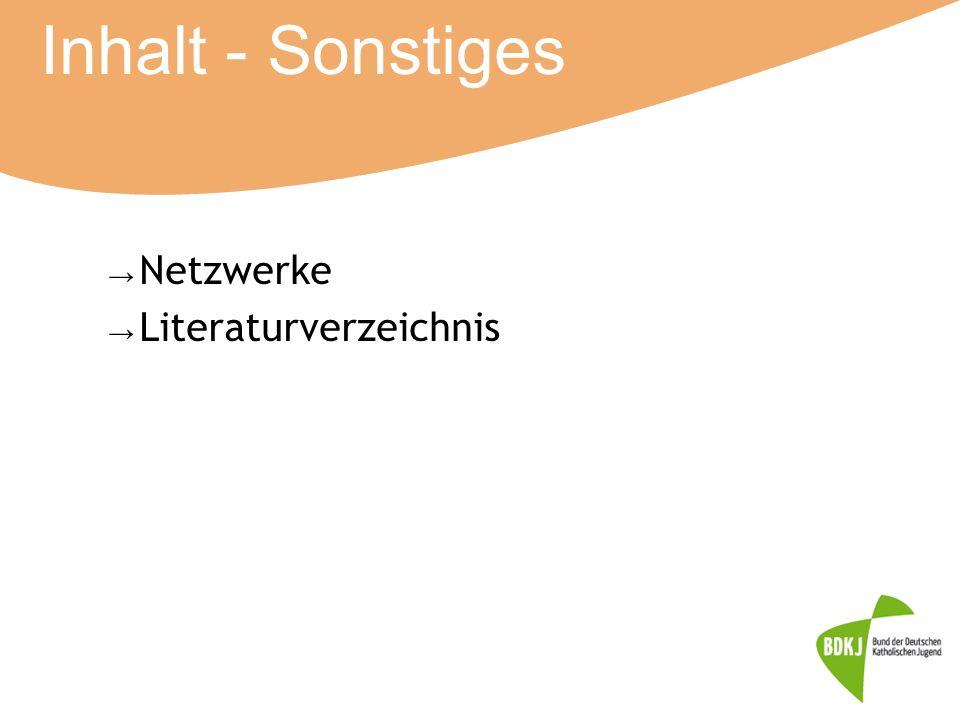 Inhalt - Sonstiges Netzwerke Literaturverzeichnis