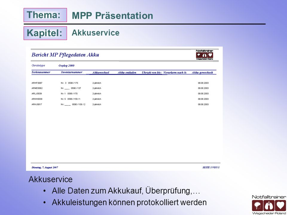 MPP Präsentation Akkuservice Akkuservice
