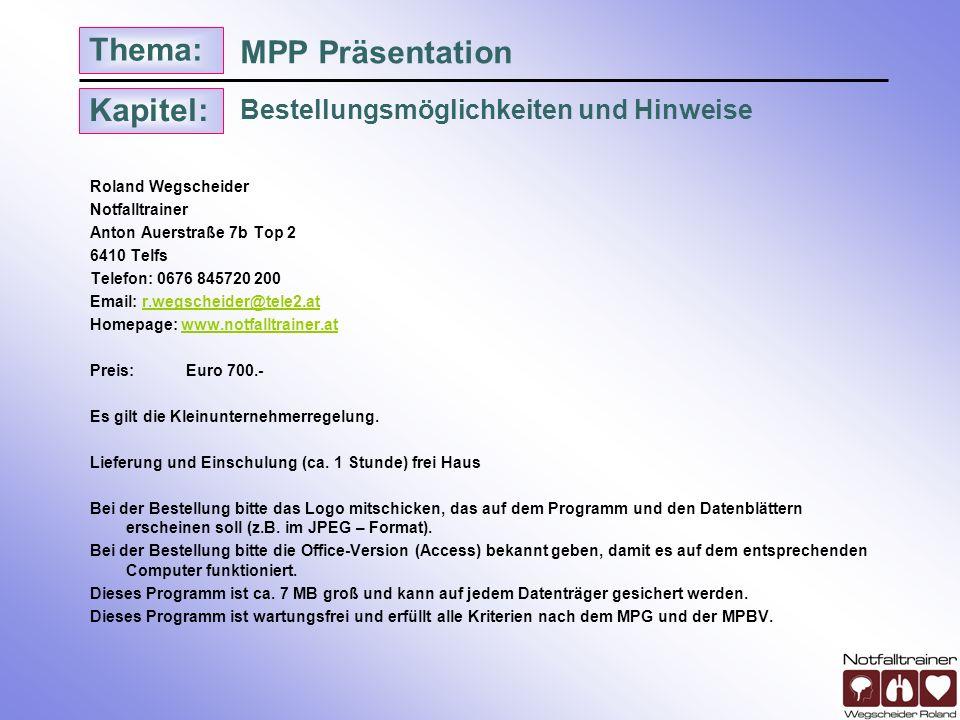 MPP Präsentation Bestellungsmöglichkeiten und Hinweise
