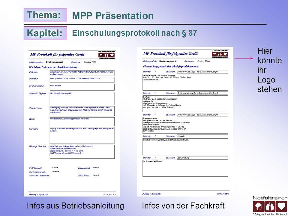 MPP Präsentation Einschulungsprotokoll nach § 87