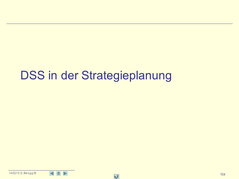DSS in der Strategieplanung