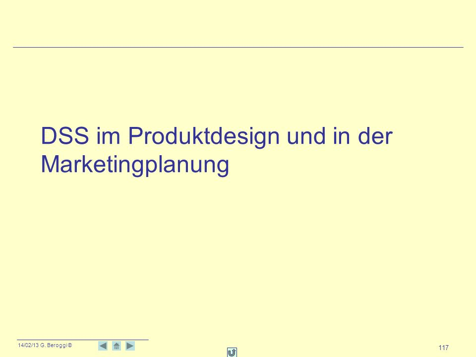 DSS im Produktdesign und in der Marketingplanung