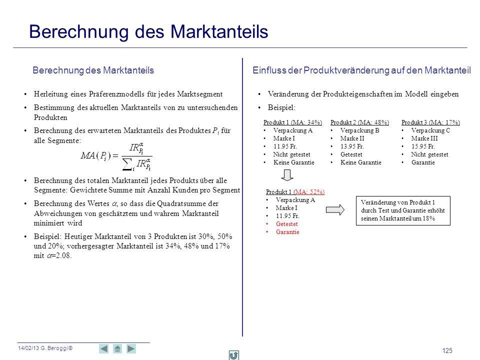 Berechnung des Marktanteils