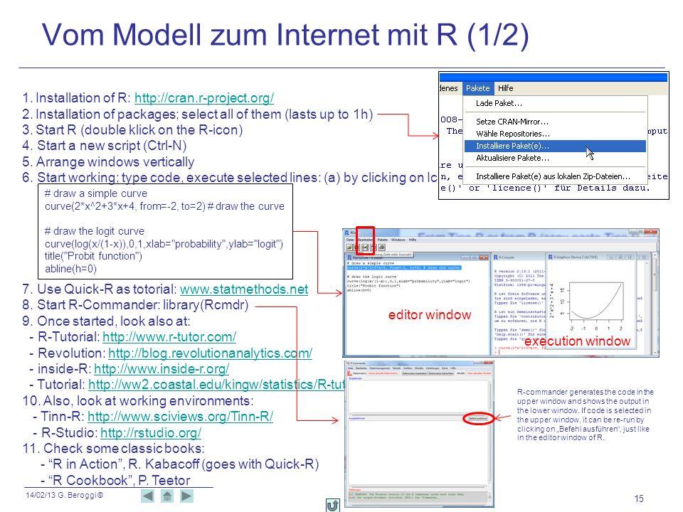 Vom Modell zum Internet mit R (1/2)