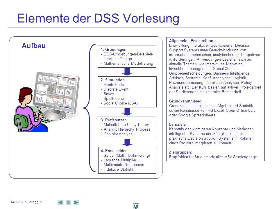 Elemente der DSS Vorlesung