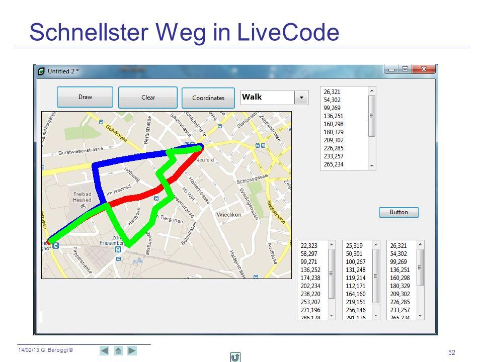 Schnellster Weg in LiveCode