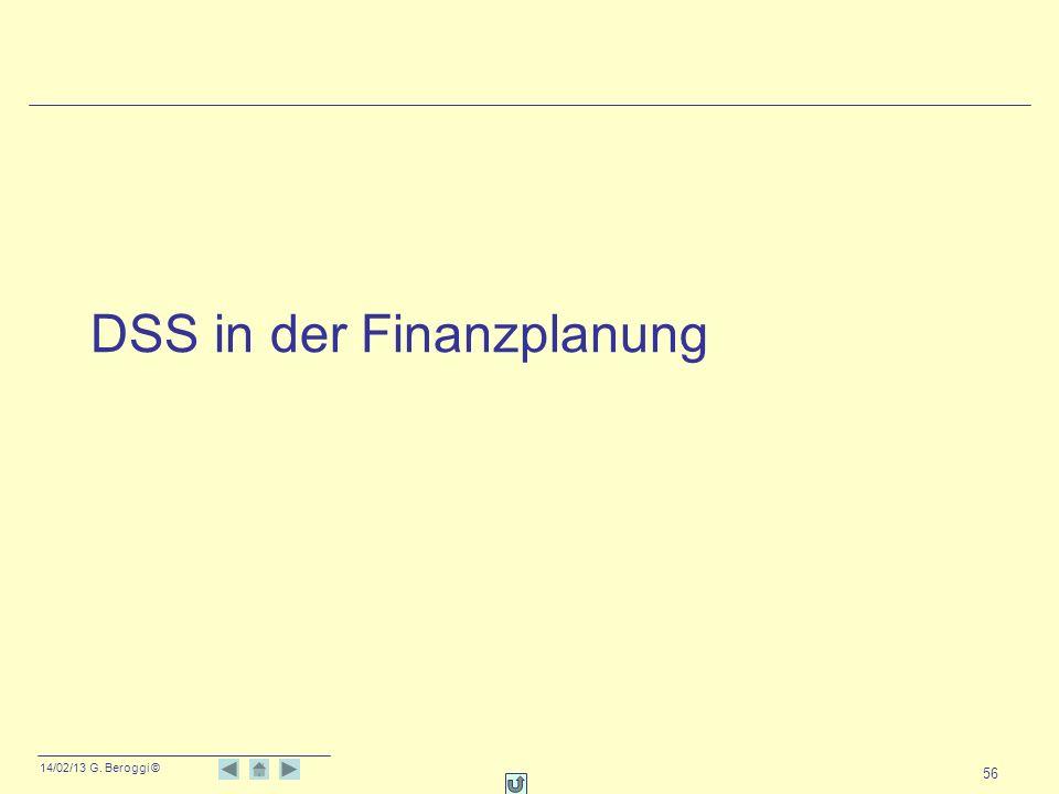 DSS in der Finanzplanung