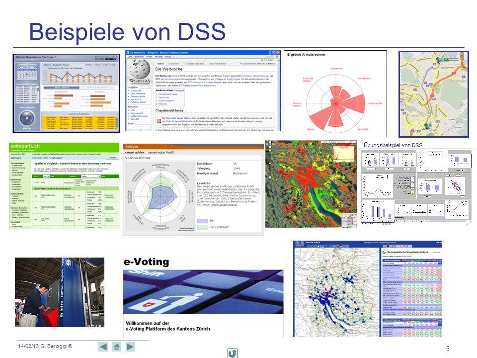 Beispiele von DSS