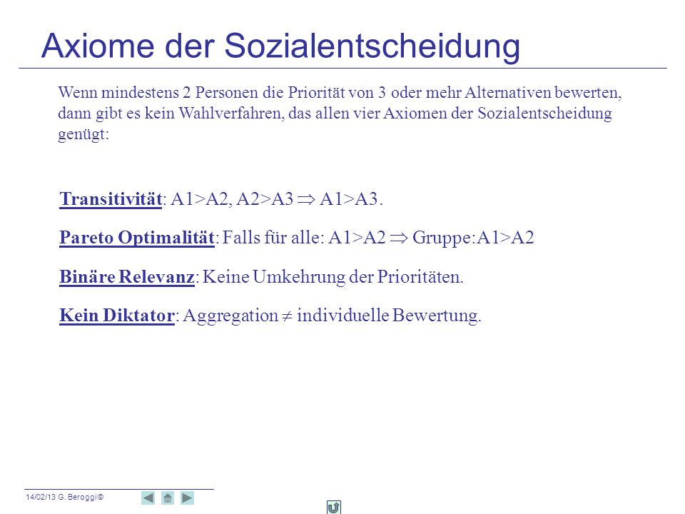 Axiome der Sozialentscheidung
