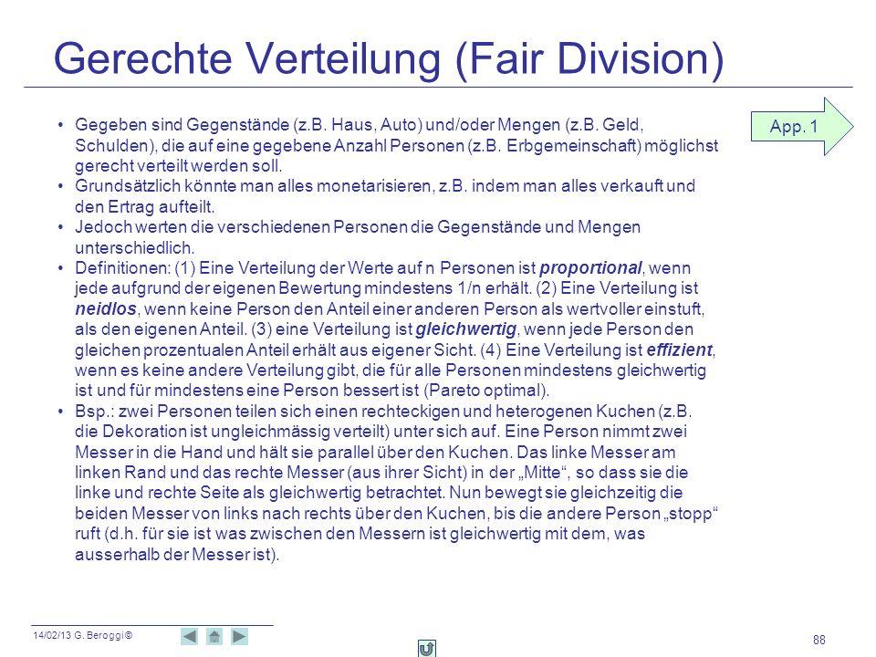 Gerechte Verteilung (Fair Division)